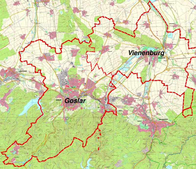 Goslar Karte.Flächennutzungspläne Goslar Am Harz Unesco Weltkulturerbe